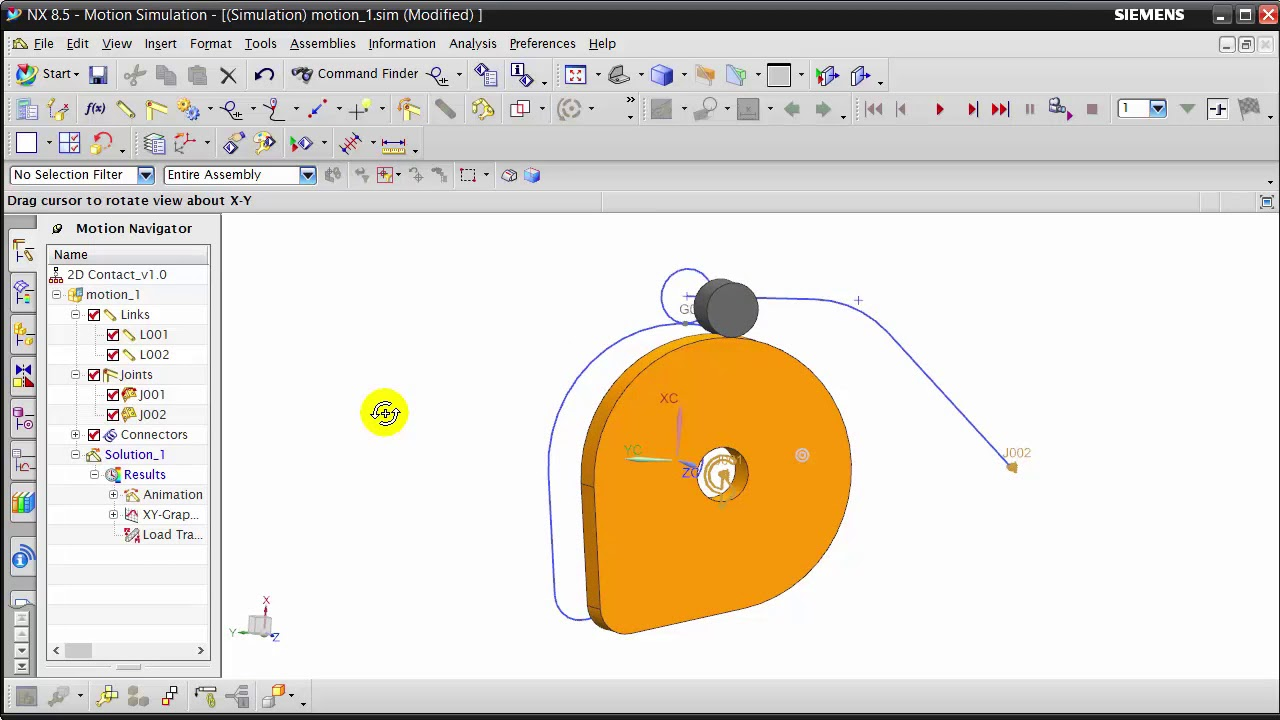 NX: Motion Simulation | 2D Contact