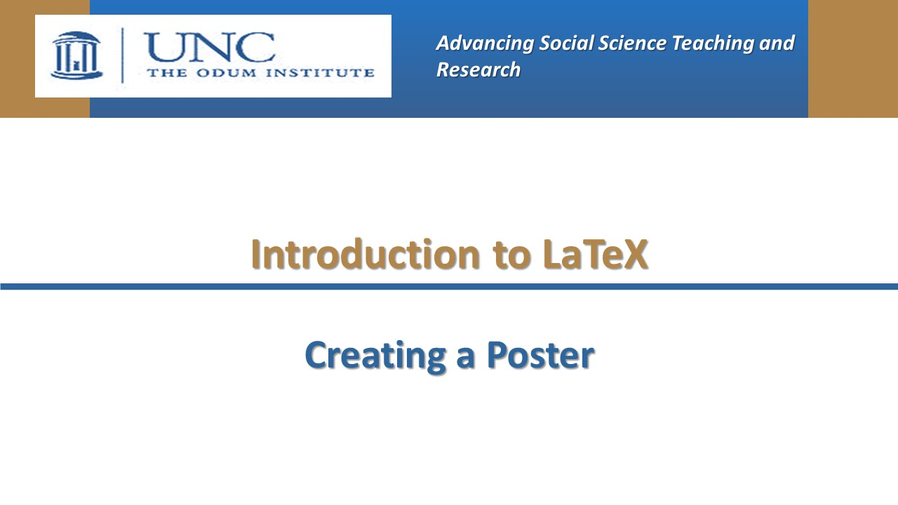 Introduction to LaTeX: Creating a Poster - YouTube