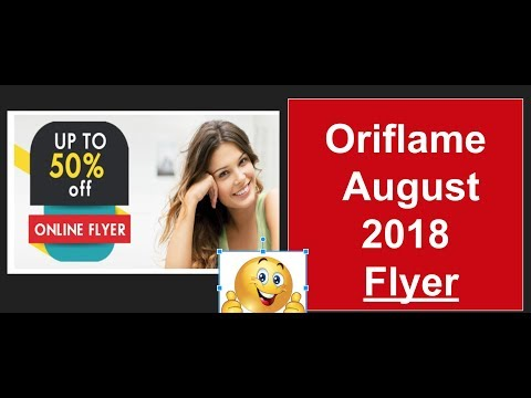 Oriflame August Online Flyer || Oriflame August 2018 Flyer