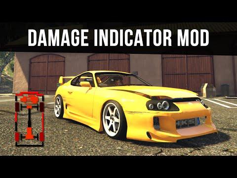 CAR DAMAGE INDICATOR & REAL TYRE WEAR   GTA 5 PC Mods