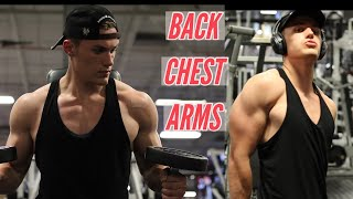 BEST BACK, ARM, CHEST WORKOUT | WORKOUT TO BUILD YOUR UPPER BODY