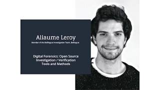 Digital Forensics  Open Source Investigation Verification Tools by Aliaume Leroy