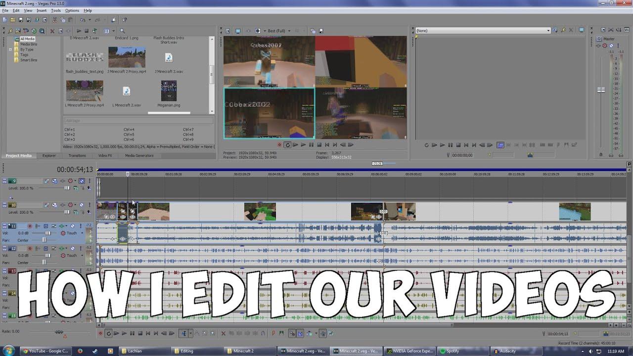 Vegas Pro 13 Multi Perspective Editing Tutorial  1080p  Multicam Gaming  Videos