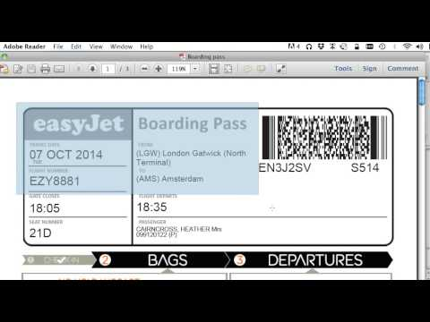 How To Print Your Boarding Pass With No Ads To Save Printer