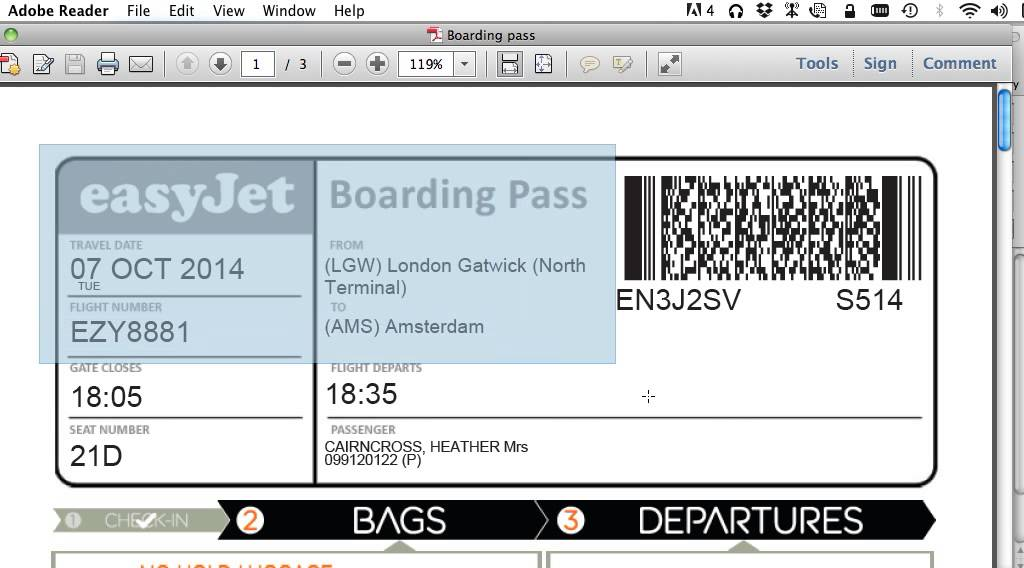 How To Print Your Boarding Pass With No Ads To Save Printer Ink