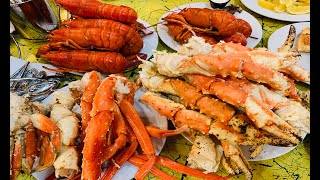 ALL YOU CAN EAT LOBSTER SEAFOOD BUFFET - JACKSON RANCHERIA CASINO FISHERMAN'S WHARF BUFFET