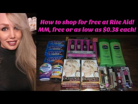 How to shop for free at Rite Aid!  MM, free or as low as $0.38 each!
