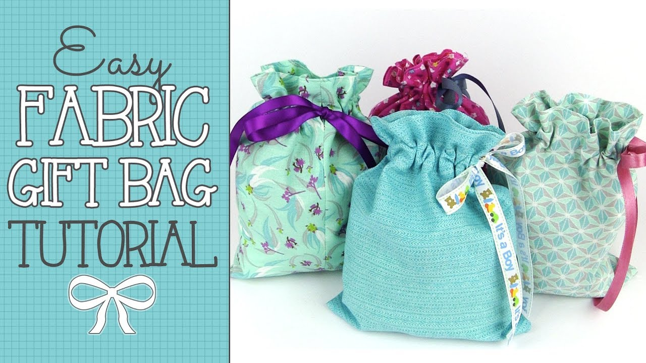 Drawstring Fabric Gift Bag Tutorial Quick Easy S Buster