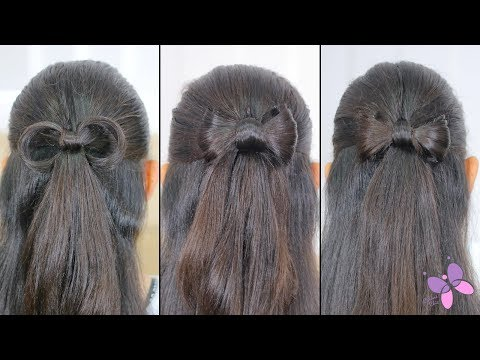 how-to-do-a-hair-bow-3-options!-|-cute-hairstyles-|-half-up-half-down-hairstyles
