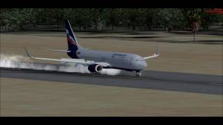 Худжанд (Таджикистан) - Посадка (Аэрофлот, MFSX)