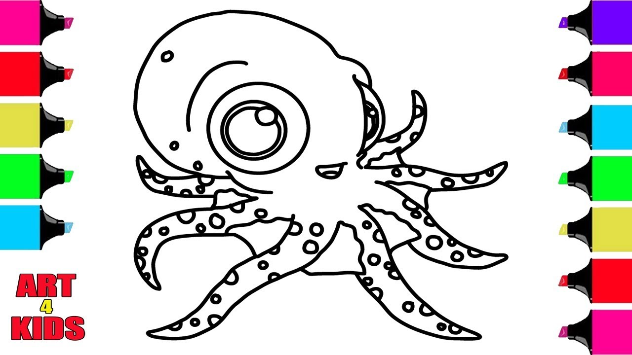 How to Draw an OCTOPUS | Coloring Pages For Children | Coloring Book ...