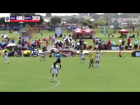 2017 USYS U13G San Diego Surf vs SDFC Yellow Field 6