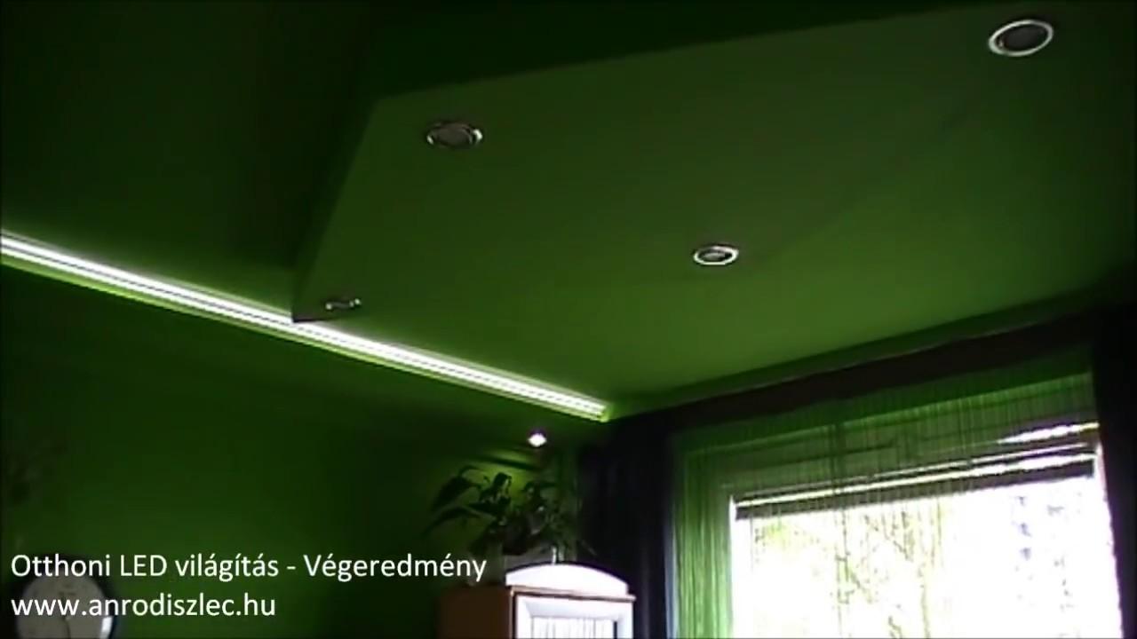 Szobafelújítás, ledes világítás kivitelezése - YouTube