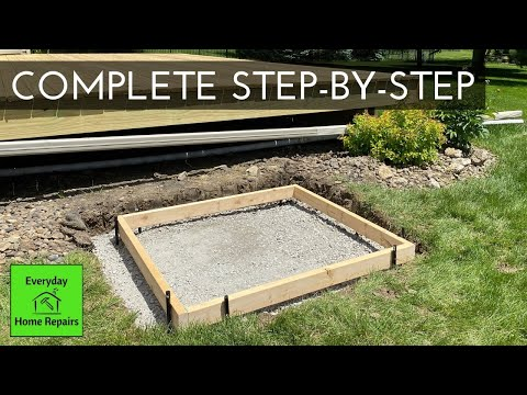 How To Pour A Small Concrete Pad - Deck Stair Landing