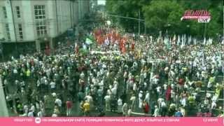 Сбор участников Марша миллионов 12 июня на Пушкинской