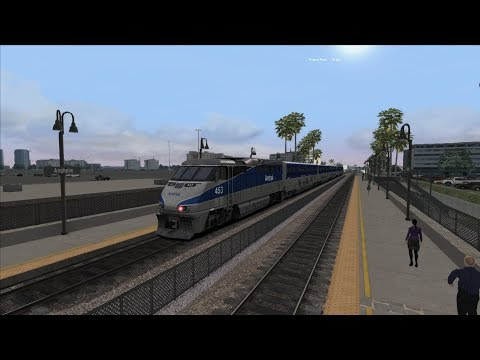 Train simulator 2018 Riding the surf -1 career scenario Time lapse {HD} |