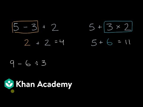 What order to do operations in