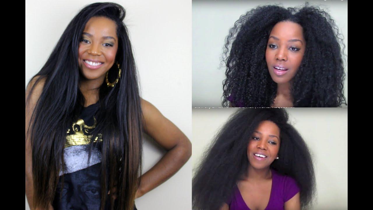 blow dry & flat iron natural hair