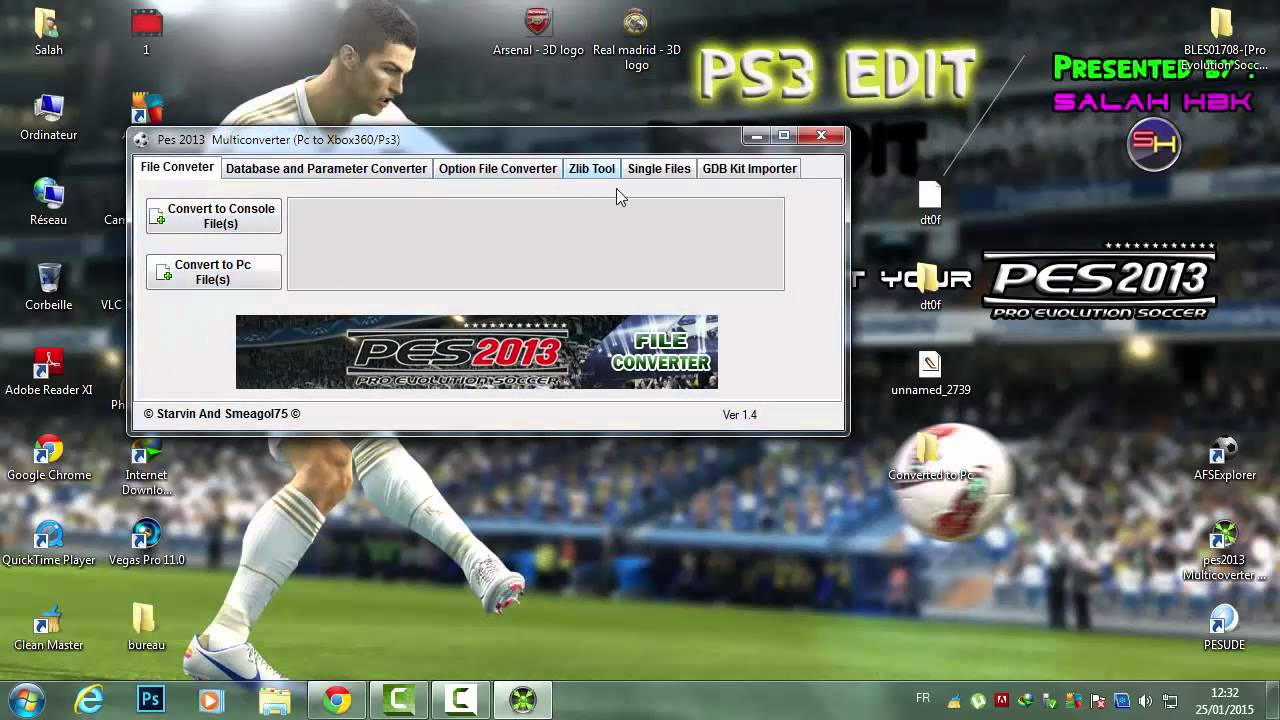 PES 2013 PS3 : how to change teams logos in database (CFW only) [PS3Edit  :1st ep]
