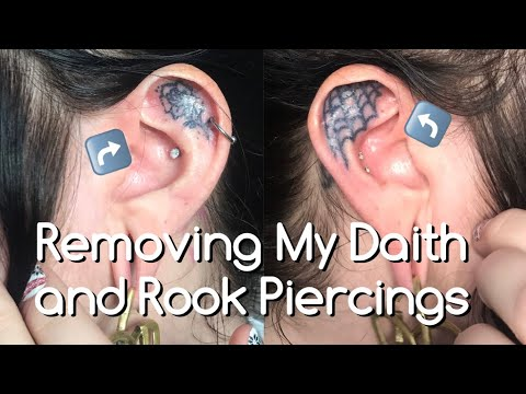 Removing My Daith & Rook Piercings
