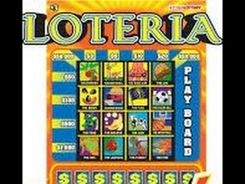 Indiana Lottery 3 Dollar Loteria Scratch Off NEW