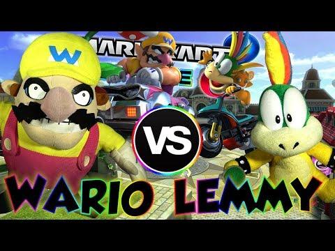 ABM: Wario Vs Lemmy !! Mario Kart 8 Deluxe !! Race & Battle Match !! HD