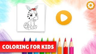 Coloring game for kids - 50+ pages to color