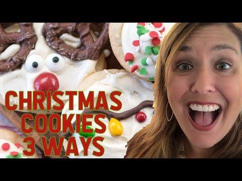 Easy Christmas Cookies - 3 Ways One Dough!