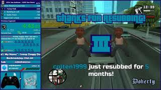 GTA San Andreas 100% San Fierro Speedrun - Hugo_One Twitch Stream - 3/27/2018