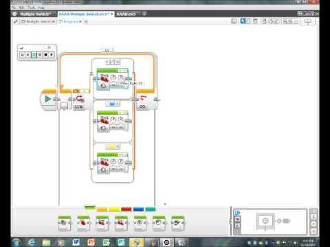 Lego Mindstorms EV3 Tutorial Using a Multiple Switch to detect color ...