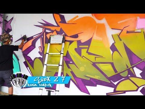 Zebra Pro Graffiti bersama Siex 27 (Artis Graffiti Asal Kuala Lumpur)