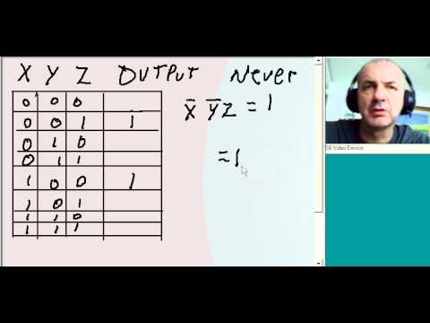 Sum of Products: Truth table to boolean exp