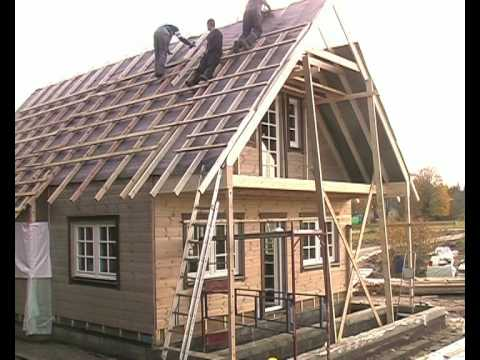 Timberworks Europe Ltd. Ecological ThermoLog Panel house 5 days build