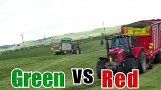 Massey vs. John Deere Grass Silage NZ 2016