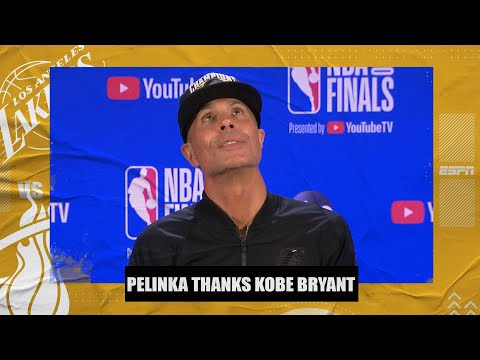 Lakers GM Rob Pelinka thanks Kobe Bryant after winning the NBA title | 2020 NBA Finals