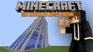 TEK BLOK 12 KATLI OTEL YAPMAK? - [Vanilla] - Modsuz - Minecraft