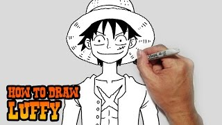 How to Draw Monkey D. Luffy- One Piece- Video Lesson