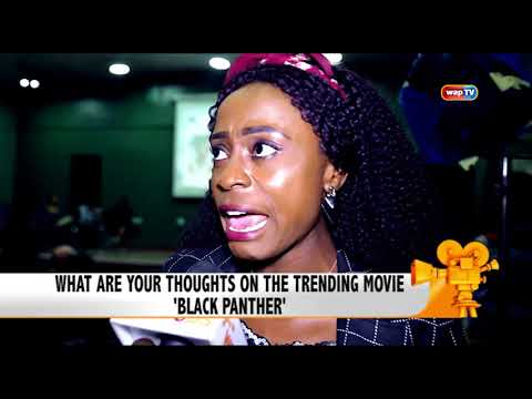 Watch people share their thoughts on the blockbuster movie 'Black Panther'.