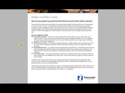 Importance of carrying Personal Umbrella & High Liability Limits