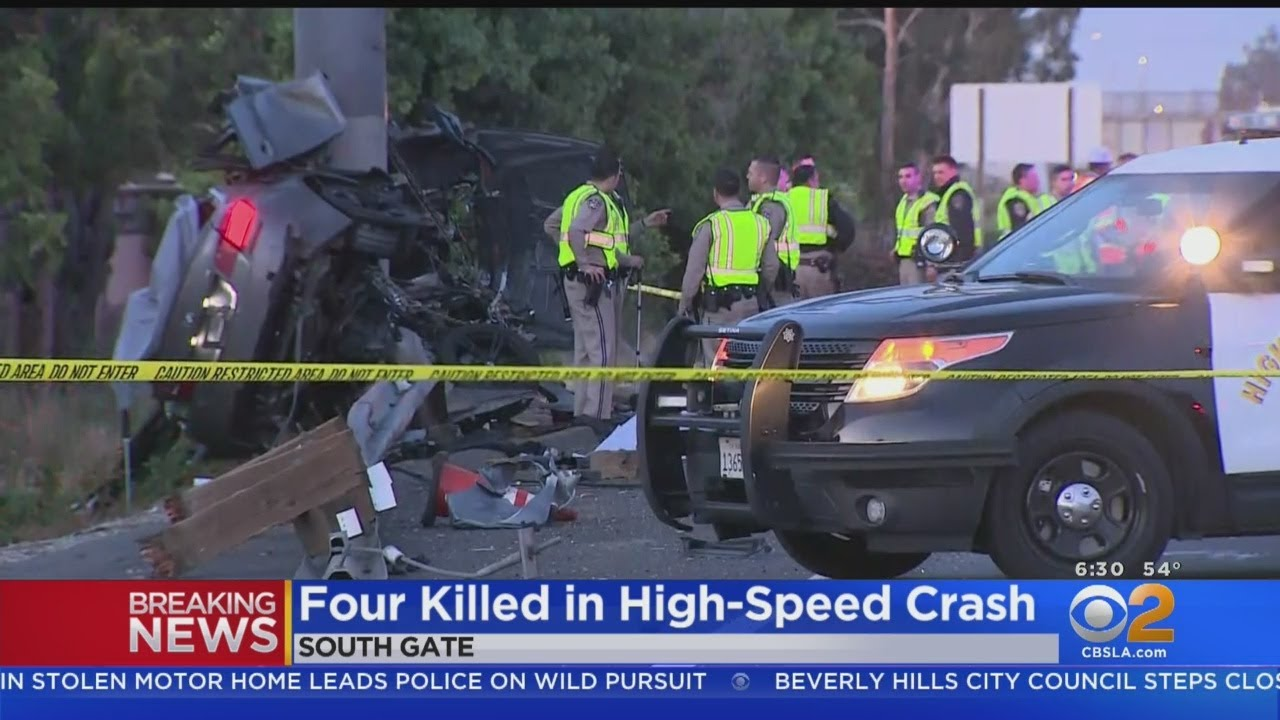 4 Men Killed In High-Speed Crash That Left BMW Wrapped Around Pole