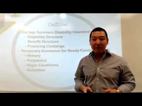 Lecture Week 9: Social Insurance and Public Assistance Programs in the U.S.