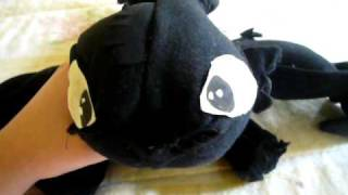 Homemade Toothless Plushie {Read Description}