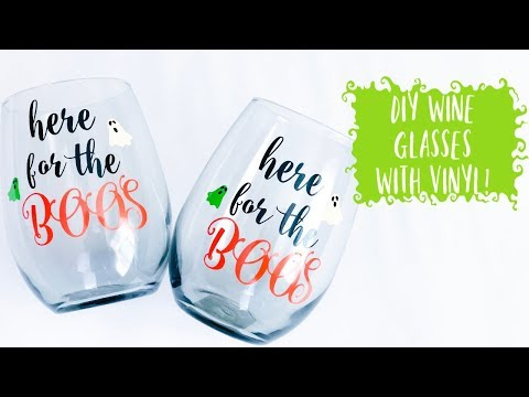 DIY Vinyl Wine Glasses
