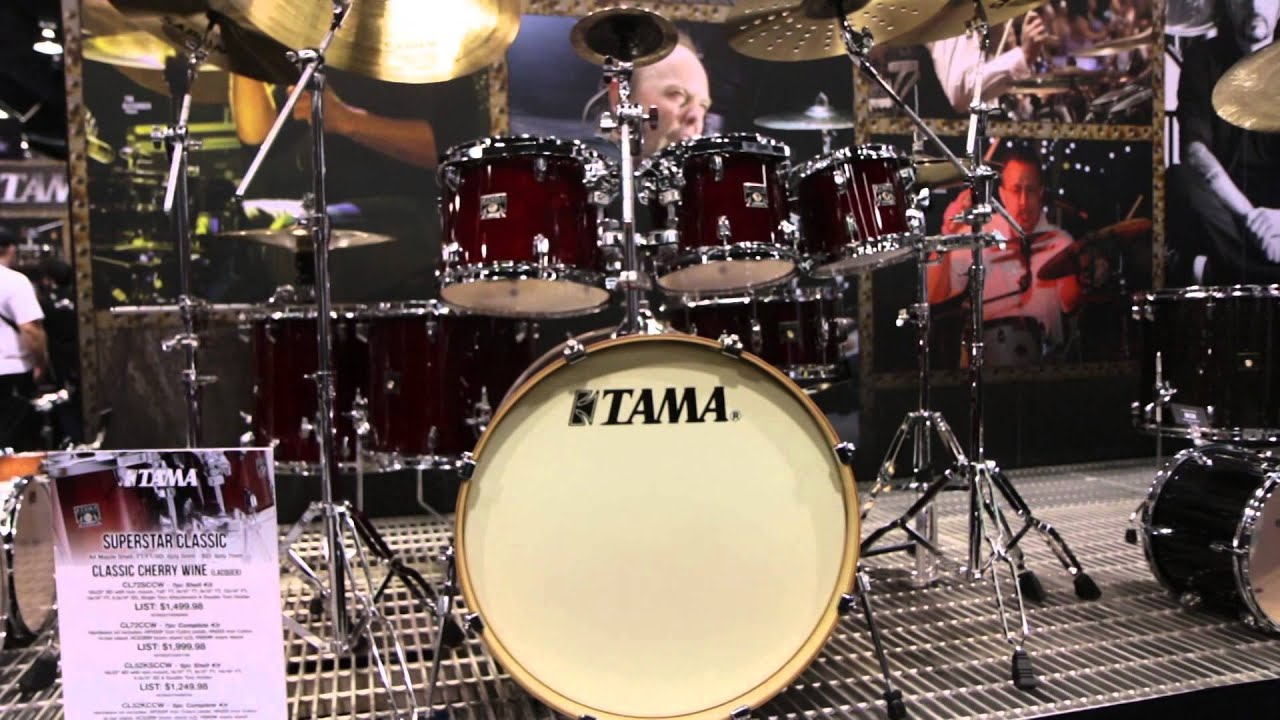 guitar center new from namm 2015 tama superstar custom drum kit youtube. Black Bedroom Furniture Sets. Home Design Ideas