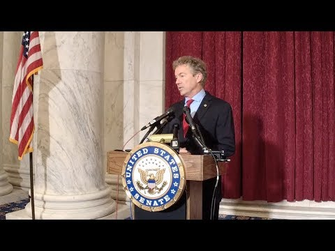 Senator Rand Paul Holds Press Conference on Associated Health Plan Executive Order - 10/12/17
