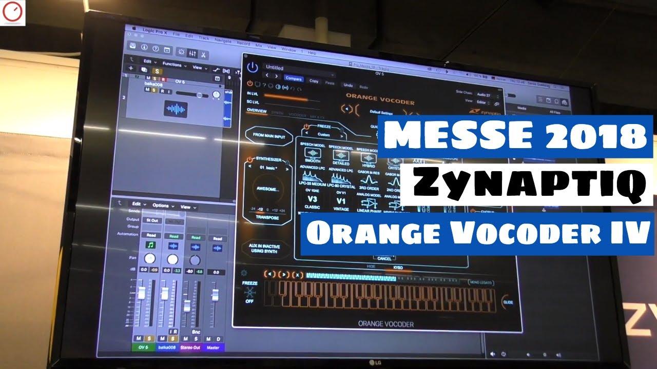 MESSE 2018: Zynaptiq Orange Vocoder IV - The Vocoder For Cher Music Lovers  | SYNTH ANATOMY