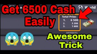 8 ball pool New Cash Trick / Working Cash Trick / Get 6500 Cash easily