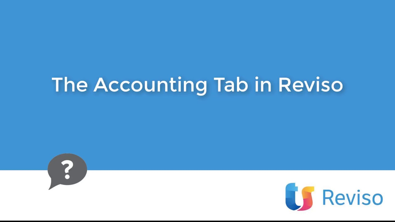 Download The Accounting tab in Reviso