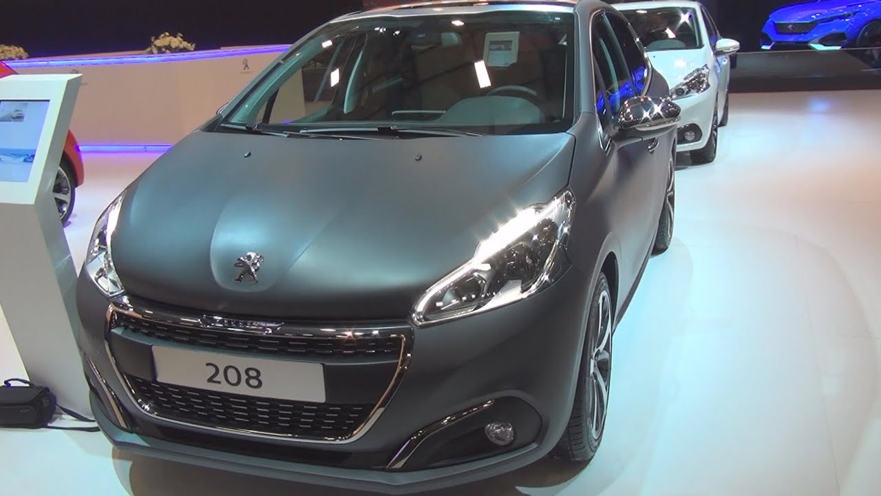 peugeot new 208 allure 1 2 puretech eat6 gray 2015 exterior and interior in 3d youtube. Black Bedroom Furniture Sets. Home Design Ideas