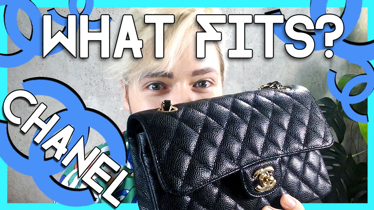 4e557d208c6c2d what fits inside the small CHANEL timeless classic double flap - YouTube